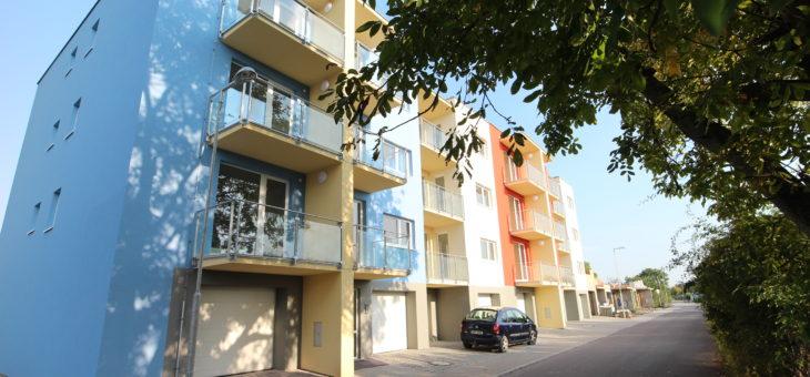 Výstavba bytového domu v Louce